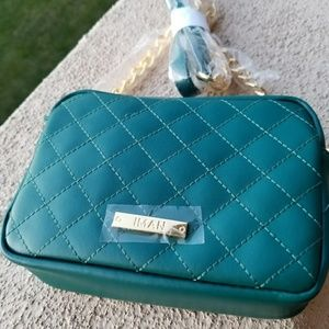 Teal green IMAN cross body bag